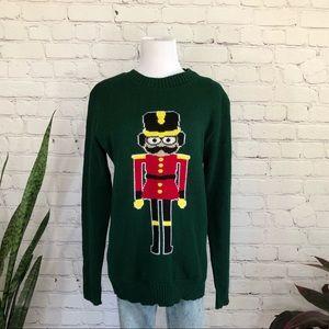 BooHoo Nut Cracker Christmas Sweater